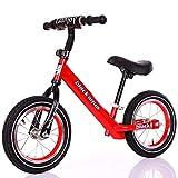 Marcheur Pedalless 12 Pouces Draisienne, Jambes for bébé équitation d'extérieur Jouets, Convient for l'équitation intérieure et extérieure for Les Enfants de 2-6 Unisexe (Color : Red)