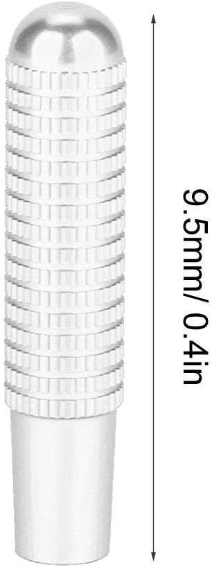 Silver Car Door Lock Pin,4pcs 9.5mm Car Interior Door Lock Pin Knob Cover Aluminium Alloy Material Compatible with Merce-des Ben-z