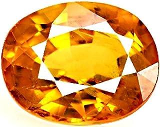 Divya Shakti 5.25 Carat Yellow Sapphire Stone (Pukhraj/Jupiter Stone) 100% Original Certified Healing Gemstone AAA Quality