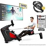 Sportstech RSX500 Máquina de Remo, Smartphone Control, App Fitness, 12 programas Remo + 4...