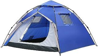 IDWOI-tält pop-up tält automatisk omedelbar vattentät vindtät familjetält för camping strand, blå