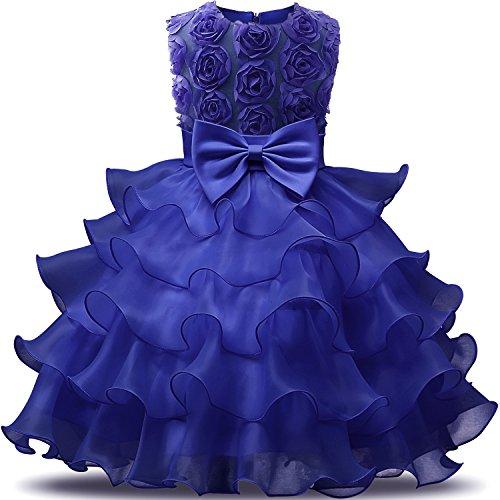 NNJXD - Vestido para niña con Volantes y Encaje