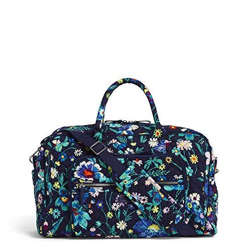 Vera Bradley Women's Iconic Signature Cotton Compact Weekender Travel Bag, Moonlight Garden, One Size