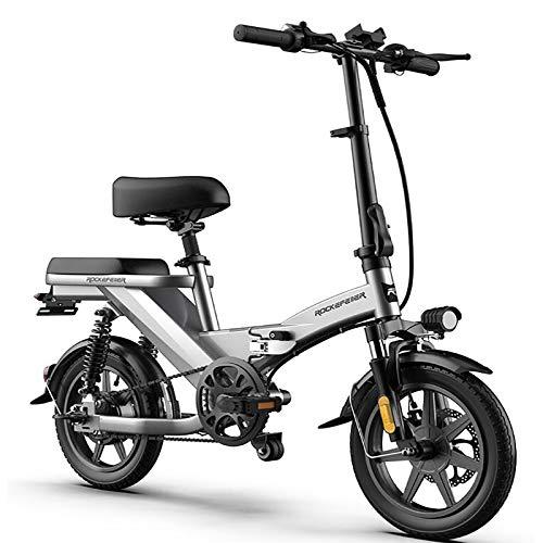Tragbares Elektrofahrrad, 350 W 48-V-Elektrofahrrad Mit Austauschbarer Batterie, Rahmenbeleuchtung Aus Kohlenstoffstahl Und Explosionsgeschützten Reifen, USB-Aufladung