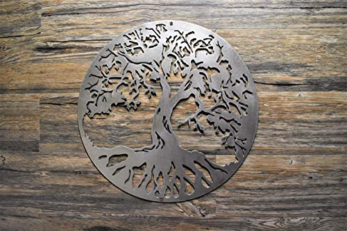 """18"""" to 30"""" Tree of Life Steel Home Decor polished wall hanging Made in U.S.A. wall art, Various Finishes, sizes"""