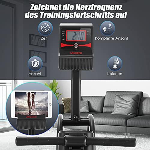 ANCHEER F103A Rudergerät Herzfrequenz