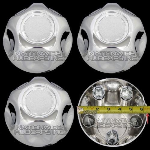 4 Pack Set of 5 Lug Chrome Center Cap Wheel Cover Rim Hub Caps Small Middle Hubs...