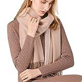 Bufanda De Punto Invierno Bufanda Mujer Color Sólido Borla Cozy Lana Abrigo del Mantón Cuello Bufanda para Mujer,Regalo De Cumpleaños/Navidad,200X45cm/79X18inch,F