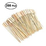 200 Wooden Bamboo BBQ Skewers, Rod, Fruit, Chocolate Fountain Fondue, 18 cm