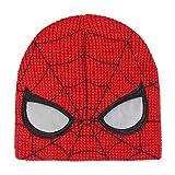 ARTESANIA CERDA Gorro con Aplicaciones Spiderman Punto, Rojo (Rojo 50), One Size (Tamaño del Fabricante:One Size) Unisex Adulto