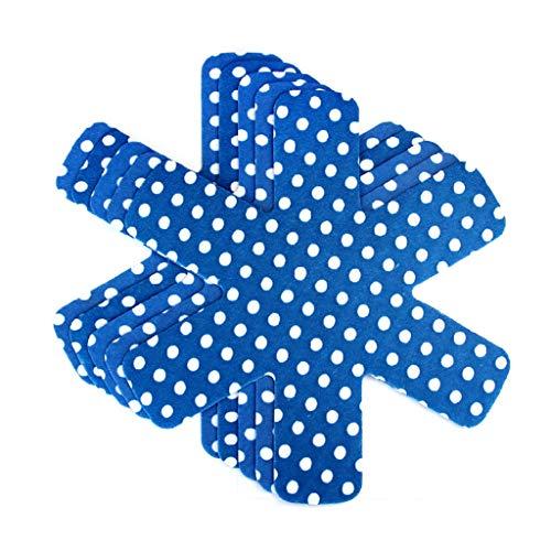 N/A. Juego de 5 protectores de sartenes antiadherentes para cocina, 38 cm, con cojín separador antiarañazos, de tela no tejida
