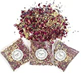 ECYC 12 Paquetes De Confeti De Boda Natural Que Arroja Pétalos De Flores Secas, Confeti De Pétalos De Rosa Biodegradable para Decoración De Fiesta De Boda