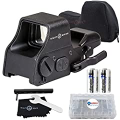Green or Red reticle, 4 patterns illumination with digital switch button to adjust variable brightness settings in any condition, unlimited eye relief Quick detach adjustable weaver mount with interlok internal locking system for easy mounting Alumin...