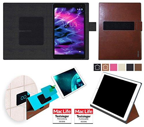 Hülle für Medion Lifetab P10506 Tasche Cover Case Bumper | in Braun Leder | Testsieger
