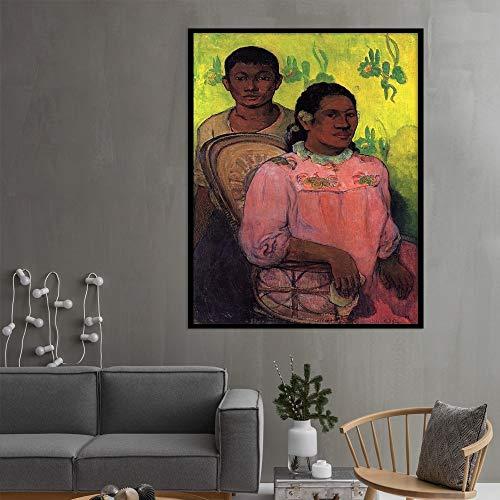Geiqianjiumai Abstrakte Figur Leinwand Poster und Foto Wandkunst Wohnzimmer Exquisite Bilderbuch Skandinavische Dekoration rahmenlose Malerei 60x80cm