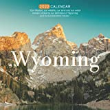 """Wyoming 2022 Calendar: 12-month Calendar - Square Small Gorgeous Calendar 8.5x8.5"""" for planners with large grid for note"""
