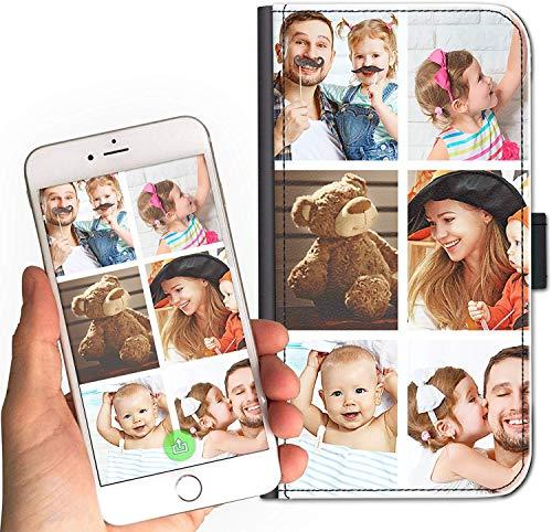 Hairyworm Personalised Photo Phone Case For Lenovo Vibe K4 Note (2016) Phone, Custom Image on Leather Side Flip Wallet Phone Case, Phone Cover - Customize Now