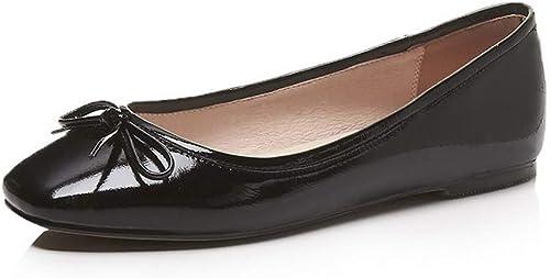 1TO9 MMS06562 zapatos de Viaje de uretano con Lazos sólidos para mujer
