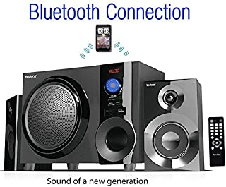 Boytone BT-210FB Wireless Bluetooth Stereo Audio Speaker with Powerful Sound, Bass System, Excellent Clear Sound & FM Radio, Remote Control, Aux-In Port, USB/SD/for Phones, La (Renewed)