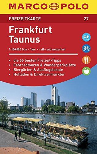 Marco Polo FZK27 Frankfurt/Taunus: Toeristische kaart 1:100 000