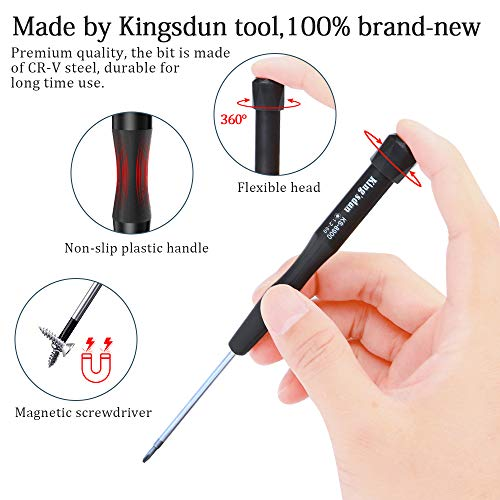 Kingsdun Pentalobe P5 Five-star 1.2 Magnetic Screwdrive for Macbook Pro Retina/Macbook Air Battery,Macbook Pro Retina/Macbook Air Trackpad, Macbook Pro Retina/Air Keyboard/Retina/Air Assembly