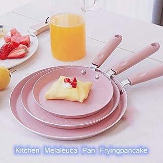 Kitchen Melaleuca Pan Fryingpancake,Egg Pizza Melaleuca Pan,Multi-Function Non-Stick Household Pan,Gas Stove and Induction Hob Compatible(pink) 3 sizes available (medium)