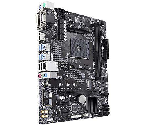 Gigabyte GA-A320M-S2H V2 Rev. 1.1 Socket AM4 AMD B350