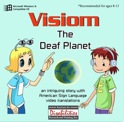 ASL American Sign Language - Visiom - Deaf Planet - A Story, A Dictionary of Words and Idioms and Study Questions for PC Only