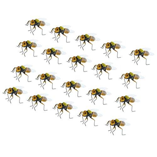 Sharplace 20pcs Abeille Animaux Aimant en Clay Pot D'insectes Cintres Maison Scarificateur de Jardin