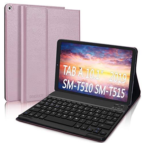 "DINGRICH Funda Teclado Español Ñ para Samsung Galaxy Tab A 2019 10.1"", Bluetooth..."