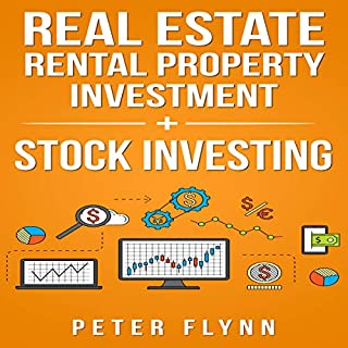 Real Estate Rental Property Investment + Stock Investing audiobook cover art