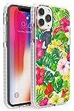 Case Warehouse Moda Tropical Tucán Burst MAX Impact Funda para iPhone 11 Pro MAX TPU Protector Ligero Phone Protectora con Floral Sabroso Moda Verano Flores