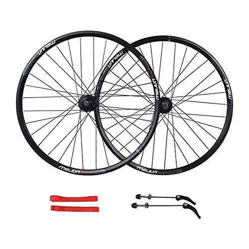 UPPVTE Ruota della Bici 26in Doppia Lega di Muro Rim 32 Fori MTB. Ruota della Bicicletta Anteriore e Posteriore del Freno del Disco Ruote