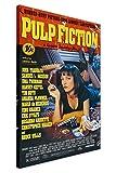 Póster de la película Pulp Fiction para decoración de habitación, cubierta frontal con fotos de Quentin Tarantino , lona, 01- A4 - 12' X 8' (30CM X 20CM)