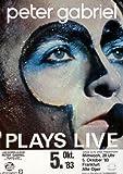 Peter Gabriel - Plays Live 1983 - Poster Plakat