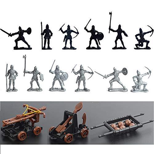 Statische Militaire Soldaat Model, Plastic Militair Speelgoed Set, Kinderspeelgoed, Woninginrichting Gepantserde Voertuigen, Katapulten Pijlen, Bijlen, Soldaten En Zwaardvechters