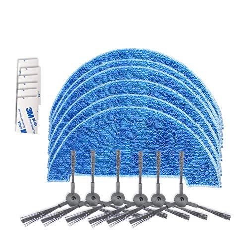SCHOON EN NETJES JTBBCP XI293 3 paren K614 Zijborstels + 6 stuks K636 Rags + 6 stuks G604 Magic sticker for A4