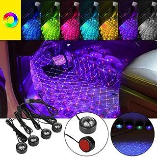 USB Car LED Atmosphere Lamp Star Light Sound Control Interior Seat Ambient Decor