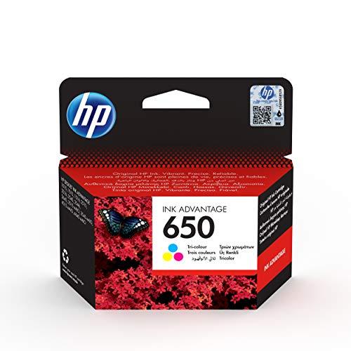 HP 650 - Cartucho de tinta para impresoras (Cian, Magenta, Amarillo, 200 páginas, HP Deskjet Ink Advantage 2515, 20-80%, -40-60 °C, 15-32 °C)