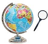 GeoKraft Educational Political Laminated 8 Inches Rotating World Globe with Steel Finish Arc