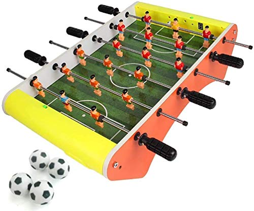 Automatische Scoring Mini Football Table 6 Multi-player Desktop Toys Ouder-kind Interactive Leisure Entertainment Toys Mini Portable Tafelvoetbal (Kleur: geel) dongdong (Color : Yellow)