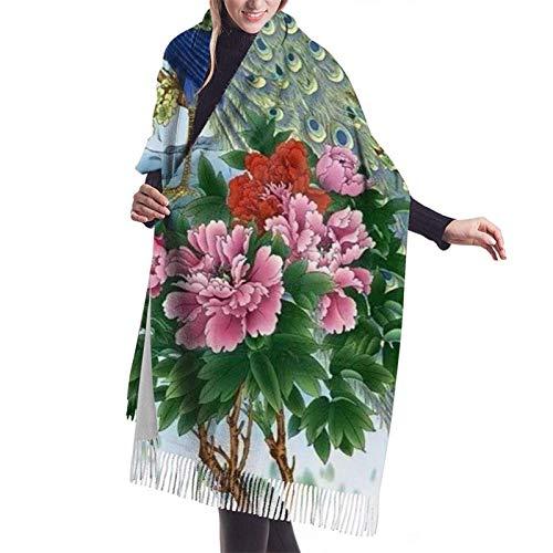 JONINOT Kaschmirschal, Damenweicher Kaschmirwollschal Großer Pashminas-Schal und Wickel Warme Stola-Decke 77 'X 27'