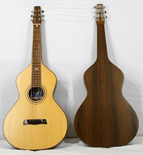 'Musikalia Gitarre Hawaiian Lap Steel Guitar Weissenborn Solide Akustikgitarre Style 4Copy in Walnuss Mansonia mit Fichtendecke, Lackierung Satin, für Geigenbauer