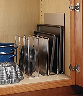 Cookware holder by Hafele, baking rack support, screw-mounted to cabinet base, easy installation (Champagne)