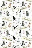 Geschenkpapier Weihnachten - Let it snow - Katzen