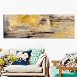 QWESFX Abstract Gold Landscape on Canvas Painting Cow Painting On Canvas White Art Prints for Bedroom Canvas Prints Personalized (Print No Frame) A3 60x90CM