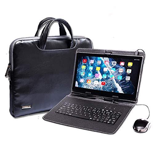 Tablet PC con teclado (AZERTY) Android Smartphone libre Dual SIM Quad Core, ordenador portátil, 16 GB ROM, doble cámara, doble cámara, phablet incluye ratón y bolígrafo táctil