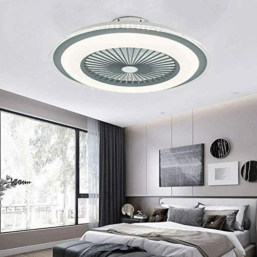 Ventilador de techo LED con lámpara, ventilador de techo con iluminación, para comedor, dormitorio, lámpara LED de techo