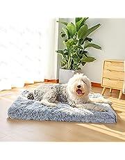 Ultra Plush Deluxe ortopediskt skum hundbädd rektangulär katt hundmattor avtagbar täcka husdjursmadrasskudde för små stora hundar