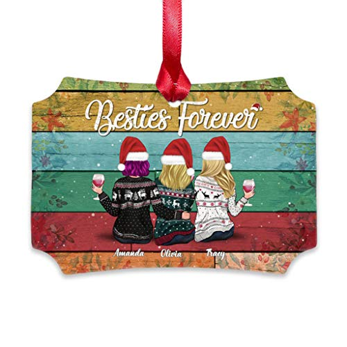 Xmas Girls Ornament - Besties Forever, 2020 Annual Events Christmas Ornament | Pandemic Ornament | Christmas Ornaments Quarantine Gift for Friends & Families | Ornaments for Christmas Tree Decorations